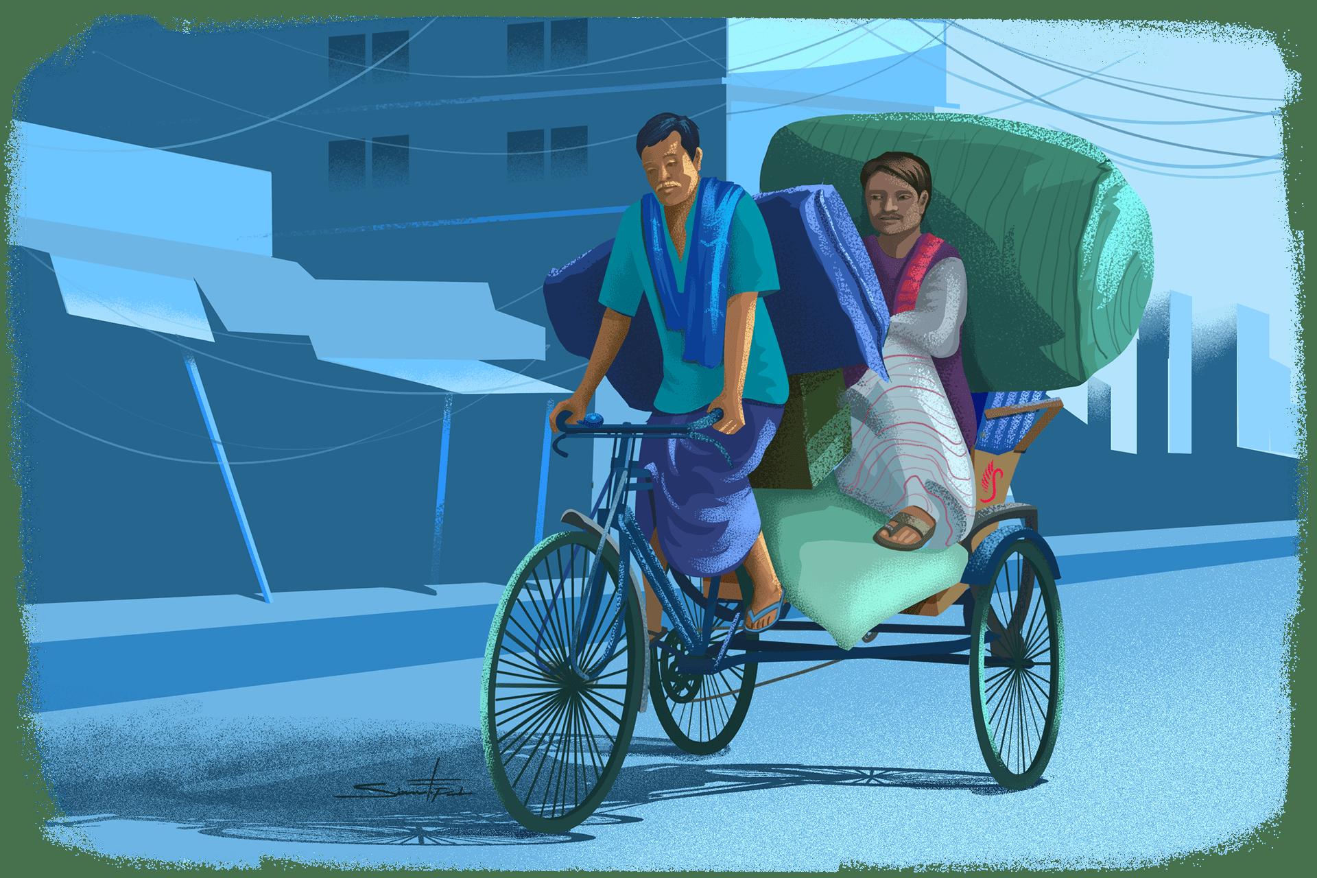 ব্যাগ ধরে ছিনতাইকারীর  টান, চলন্ত রিকশা থেকে পড়ে গিয়ে নারীর মৃত্যু